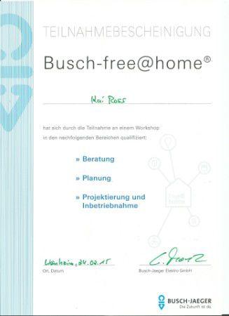 Teilnahmebescheinigung Kai Ross Busch-free@home
