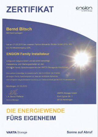 Zertifikat Engion